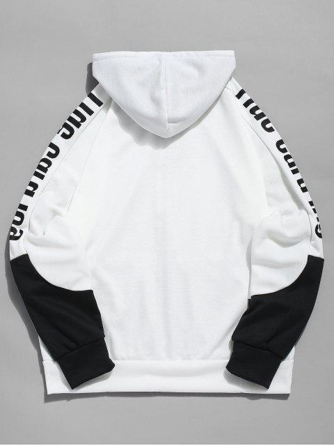 outfit Letter Contrast Zipper Sports Jacket - WHITE XL Mobile
