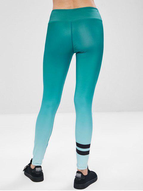 Entrenamiento Ombre Yoga Gym Leggings - Verde L Mobile
