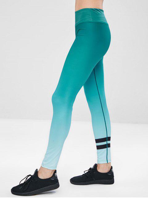 Entrenamiento Ombre Yoga Gym Leggings - Verde XL Mobile