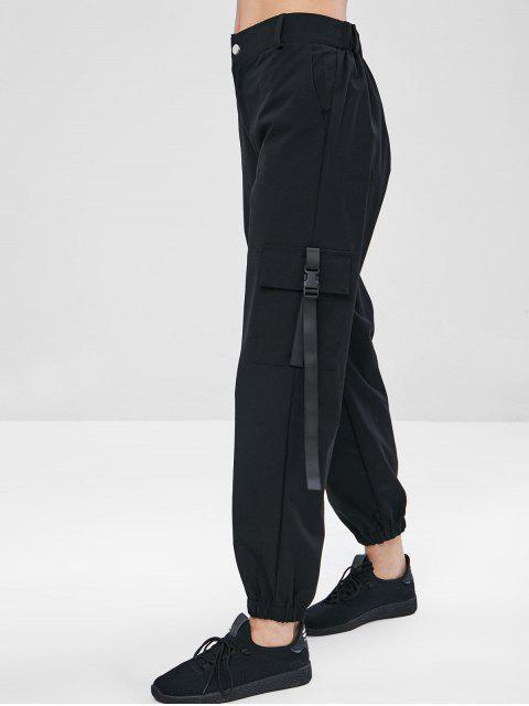 ZAFUL Pantalones de Carga con Cremallera - Negro S Mobile