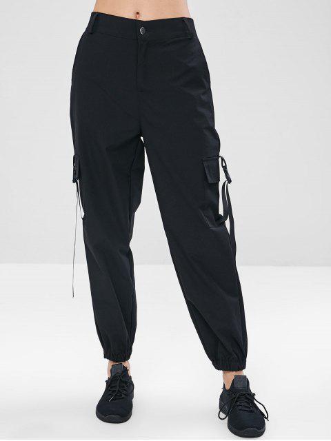 outfit ZAFUL Zipper Cargo Pants - BLACK M Mobile