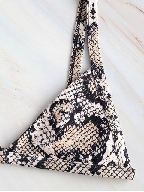 womens ZAFUL Snakeskin Print Bikini Set - ORANGE GOLD M Mobile