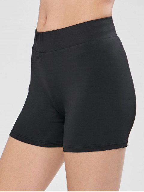 ZAFUL Skinny Biker Gym Shorts - Negro S Mobile