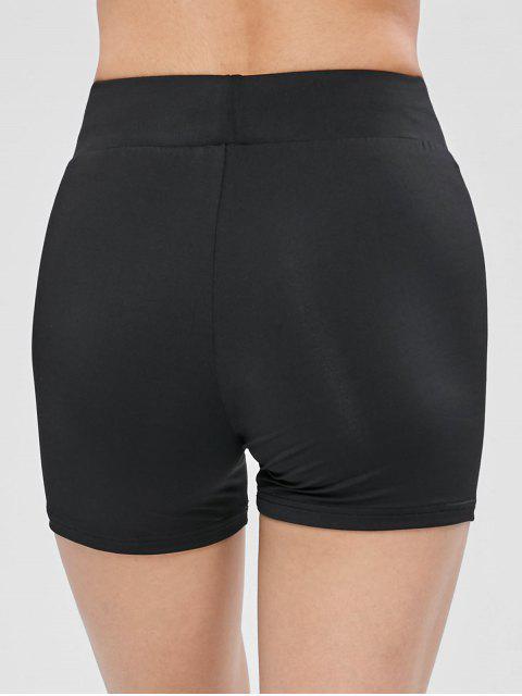 ZAFUL Skinny Biker Gym Shorts - Negro L Mobile