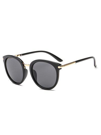 ea0f4434fd Round European American Young Style Sunglasses - Black ...