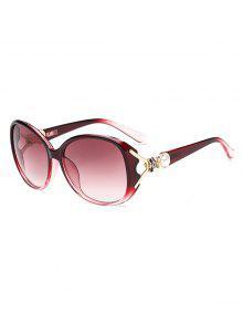 النظارات الشمسية الأمريكية الفراشة الشكل التدرج - نبيذ احمر