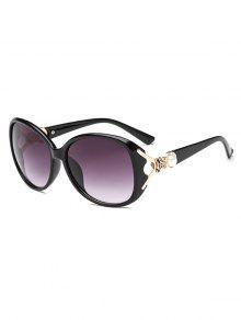 النظارات الشمسية الأمريكية الفراشة الشكل التدرج - أسود