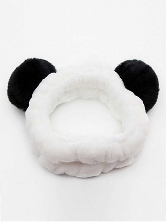 affordable Vintage Fuzzy Ball Elastic Hairband - BLACK