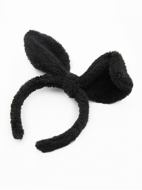 Cute Rabbit Ear Hair Hoop - Nero