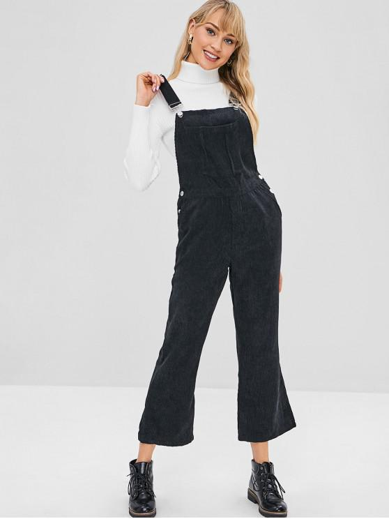e1bc49cee85 25% OFF  2019 Corduroy Bootcut Pinafore Jumpsuit In BLACK