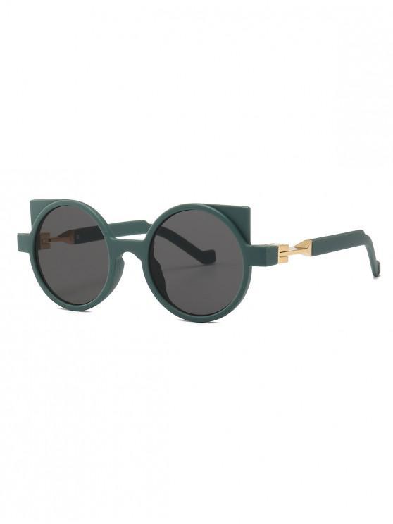 a3d75e0059 9% OFF  2019 Cat Eye Frame Design Round Sunglasses In DARK GREEN