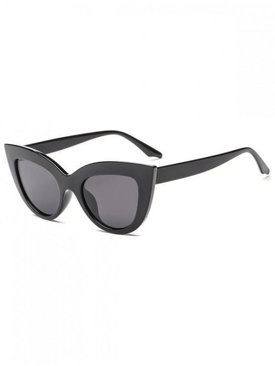 Trendy Kitty Eyes Shape Frame Sunglasses - Nero