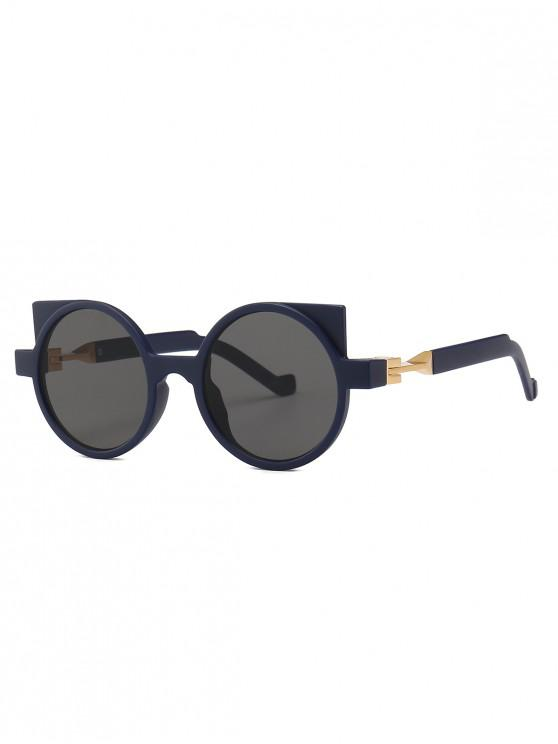 women Cat Eye Frame Design Round Sunglasses - DEEP BLUE