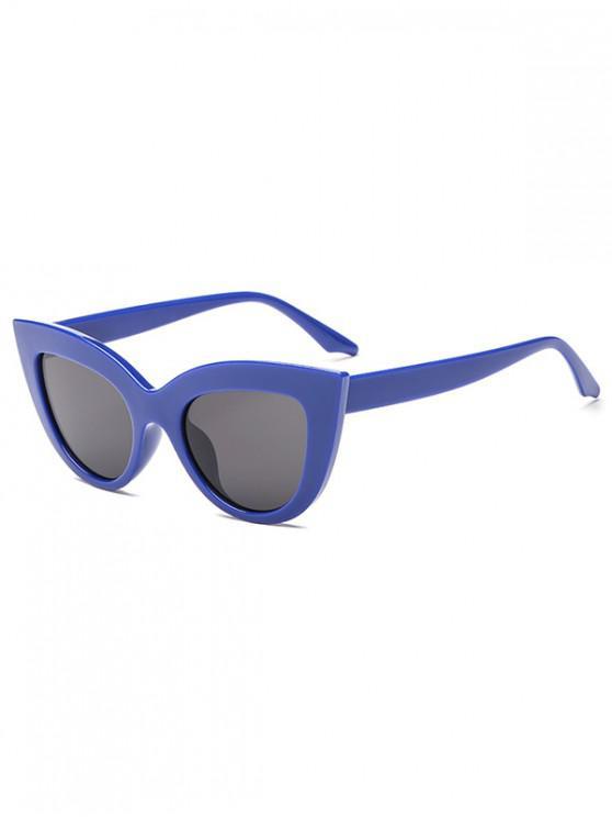 chic Trendy Kitty Eyes Shape Frame Sunglasses - BLUE