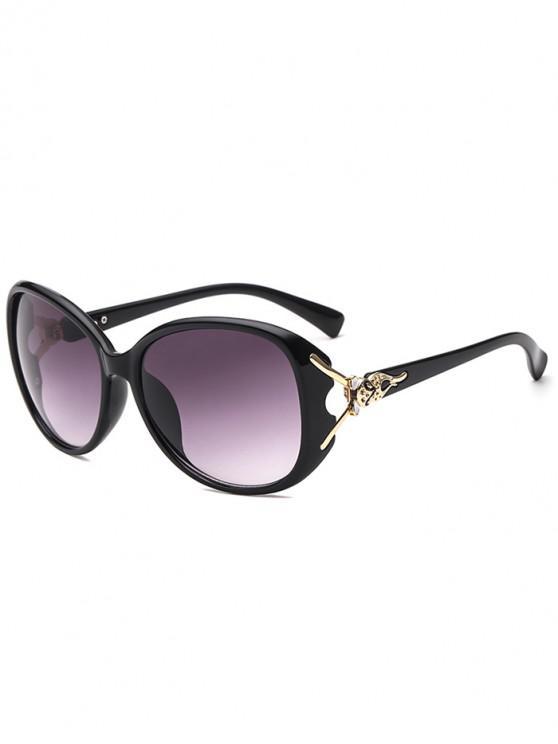 Stylish Butterfly Shape Decoration Sunglasses - أسود
