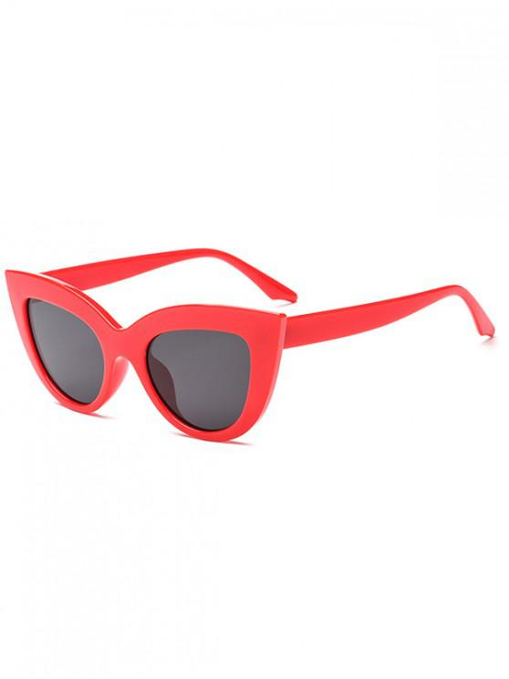 outfit Trendy Kitty Eyes Shape Frame Sunglasses - RED