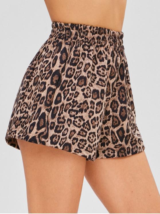 Shorts de gamuza leopardo - Leopardo XL