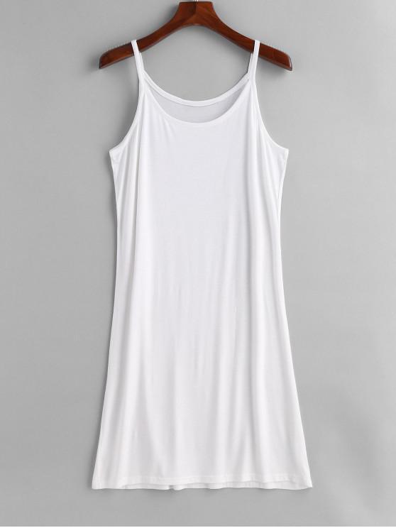Camisa de tirantes sin mangas de talla grande - Blanco Talla única