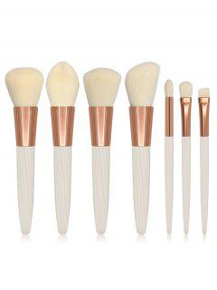 Cosmetic White Handles Soft Hair Travel Makeup Brush Suit - White
