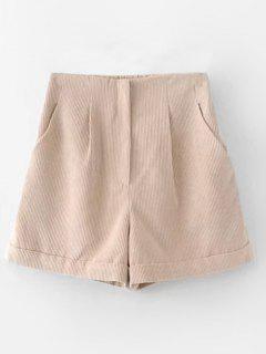 Pantalones Cortos De Cintura Alta Pantalones Cortos - Albaricoque L