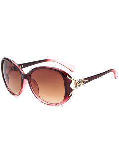 Stylish Butterfly Shape Decoration Sunglasses - Deep Pink