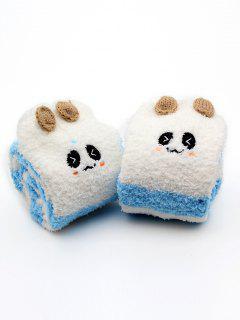Cartoon Animal Winter Fuzzy Socks - Cielo Azul Oscuro