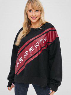 Grapic Baggy Oversized Sweatshirt - Black
