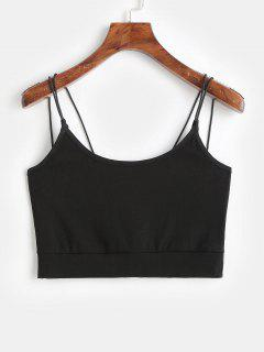 ZAFUL Cropped Strappy Tank Top - Negro S