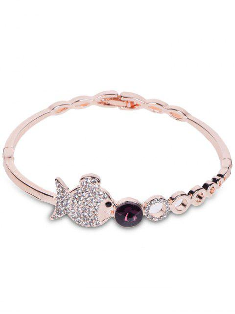 affordable Metal Fish Bubble Rhinestone Bracelet - ROSE GOLD  Mobile
