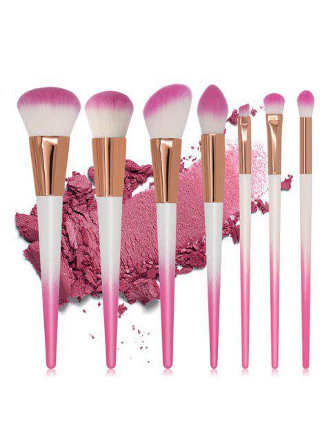 lady Professional 7 Pcs Fiber Hair Eyeshadow Blush Powder Brush Set - PINK  Mobile