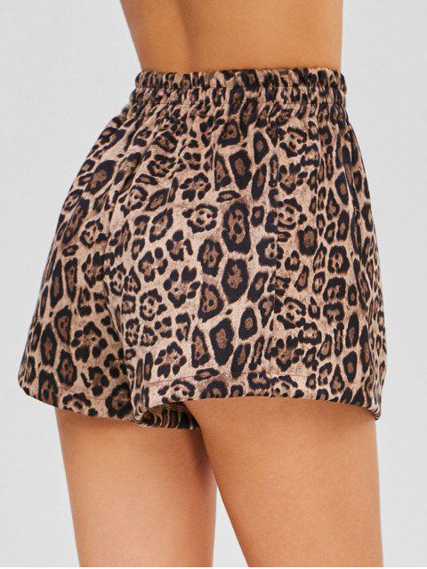 fashion Leopard Suede Shorts - LEOPARD XL Mobile