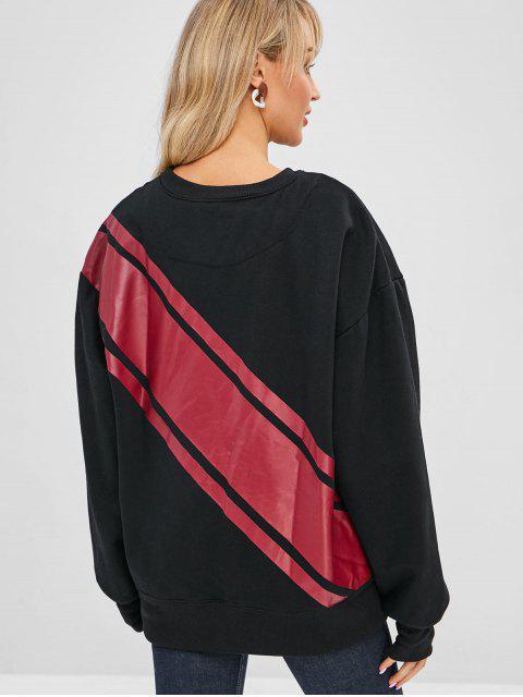 Sweat-shirt Graphique Surdimensionné - Noir Taille Unique Mobile