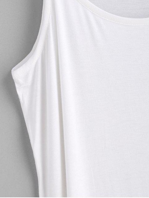 Haut Long Simple à Bretelle Grande Taille - Blanc Taille Unique Mobile