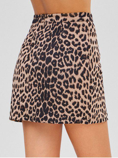 new Leopard Suede Skirt - LEOPARD XL Mobile