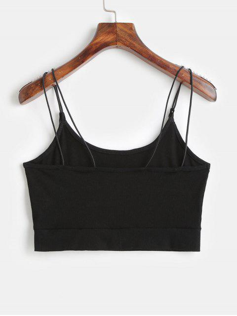 outfits ZAFUL Cropped Strappy Tank Top - BLACK M Mobile