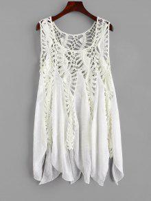الكروشيه غطاء التستر اللباس - الأبيض الدافئ