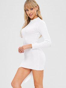 7481ae1e25c Mock Neck Asymmetrical Sweater Dress  Mock Neck Asymmetrical Sweater Dress  ...