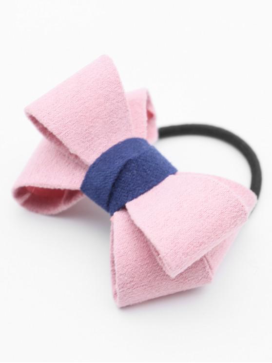 Bandeau Élastique Élégant avec Nœud Papillon - Rose