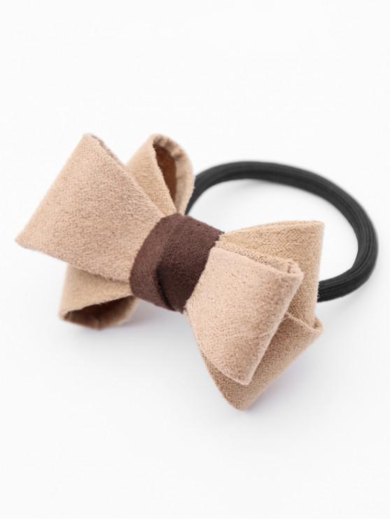 Stylish Bowknot Elastic Hairband - ضوء الكاكي