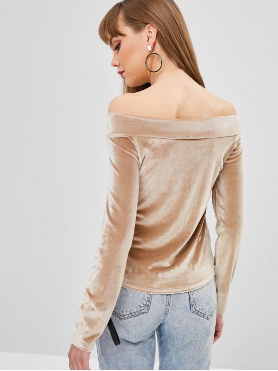 shirt Simple Dénudée En À T Epaule VeloursBronze CroxBedW