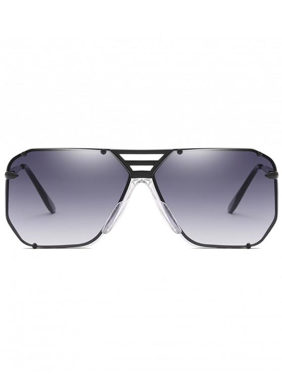 fancy Metal Butterfly Shape Frame Narrow Brim Sunglasses - CARBON GRAY