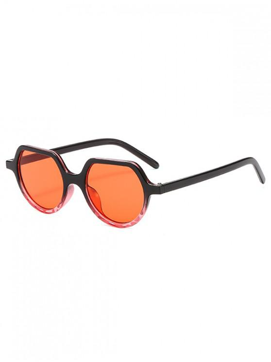 unique Minimalist Style Irregular Geometric Design Sunglasses - RED