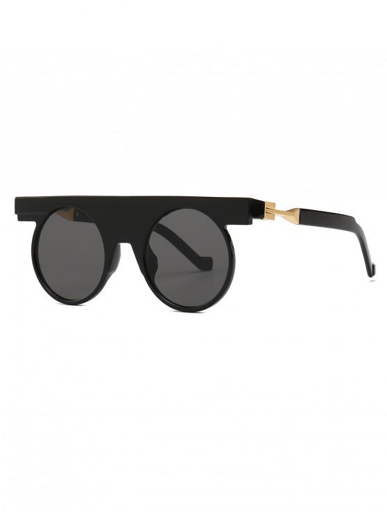 Simple Style Round Shape Sunglasses - Nero