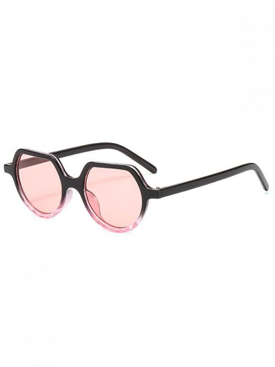 shops Minimalist Style Irregular Geometric Design Sunglasses - PINK