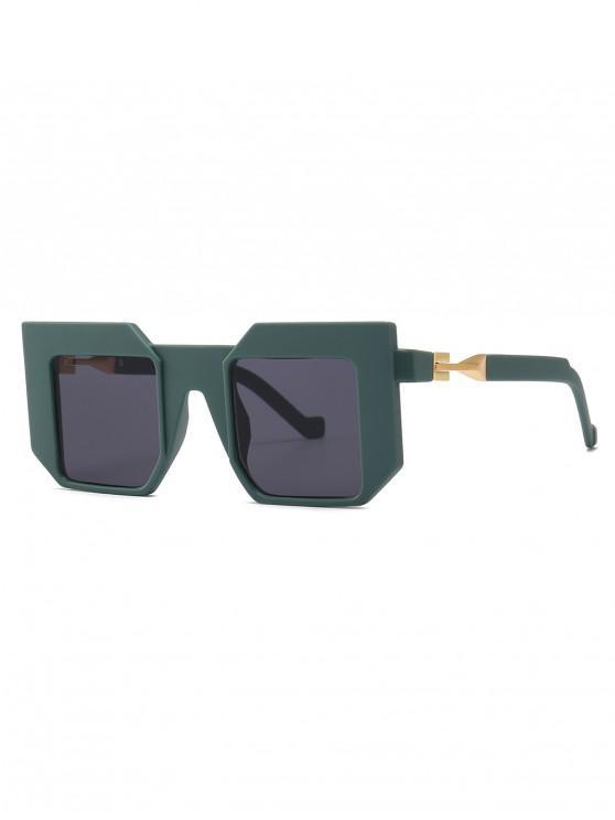 latest Square Frame Wide Brim Sunglasses - DARK GREEN