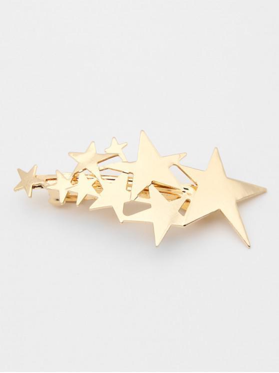 Stylish Alloy Star Decorative Hair Clip - Oro