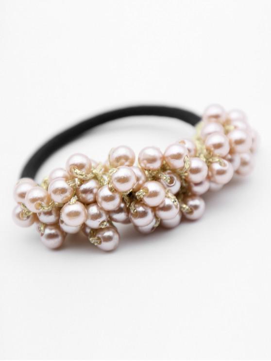 hot Faux Pearl Elastic Hairband - GOLD