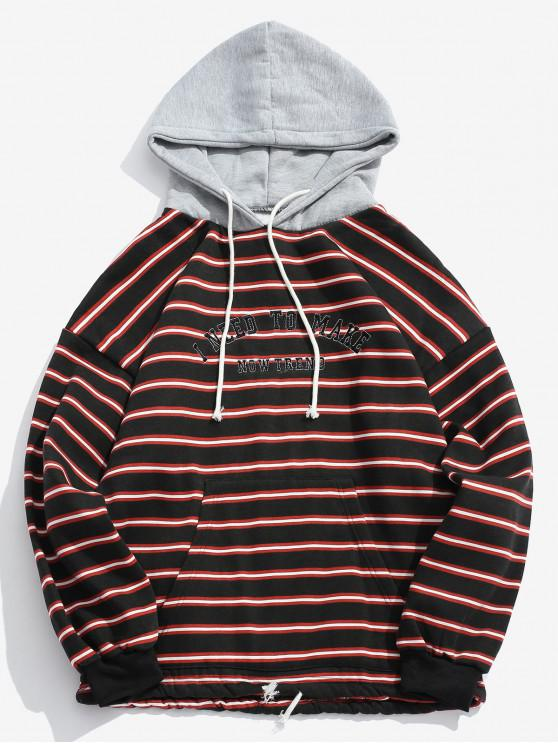 2020 ZAFUL Drawstring Striped Hoodie In