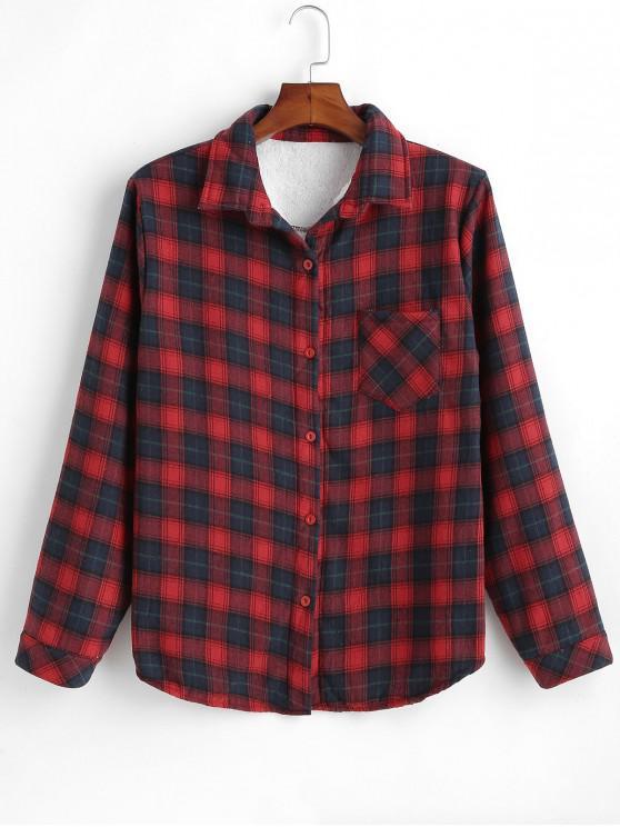 Camisa de manta forrada fleece - Multi M