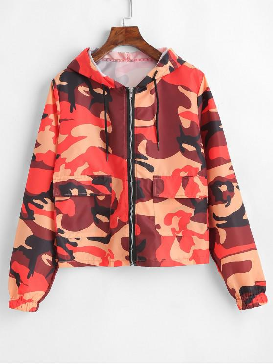 Camo Print Zip Light Jaquetas - Multi M